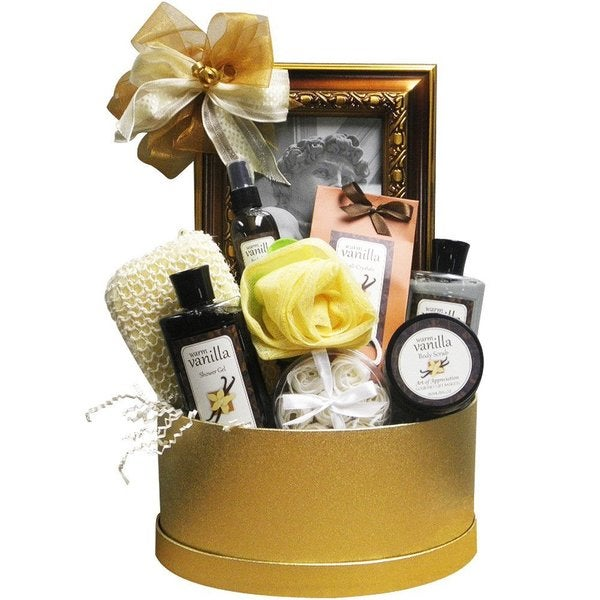 Sophisticated Luxury Vanilla Spa Bath and Body Gift Basket Set