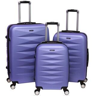 World Traveler Delhi 3-piece Hardside Expandable Spinner Luggage Set