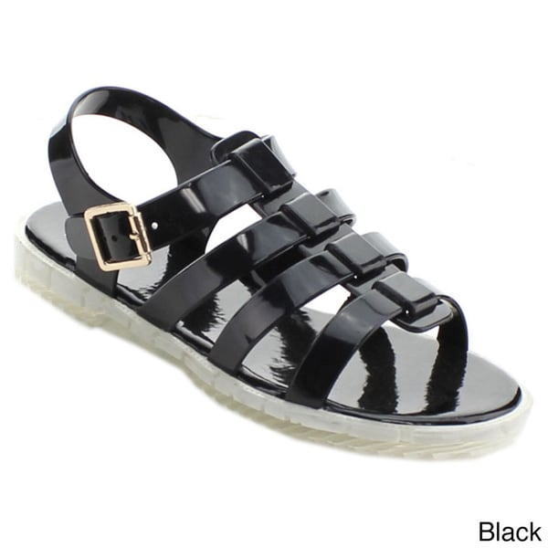 Cape Robbin Danilo-qz-3 Women's Open Toe Jelly Strappy Flat Sandals