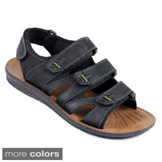 Arider Cole-05 Men's Strappy Velcro Genuine Leather Sandals