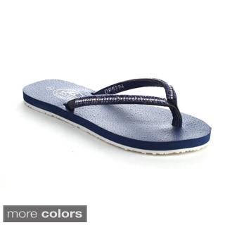 Bolaro Df5324 Women's Open Toe Chic Flat Flip Flop Sandals