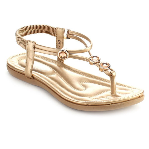 Bolaro Df5292 Women's Open Toe Thong Sandals