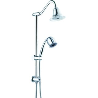 Sliding Bar Set, Gooseneck Shower Arm, 2 Function Hand Shower and Rain Shower with Oxygenic Spray