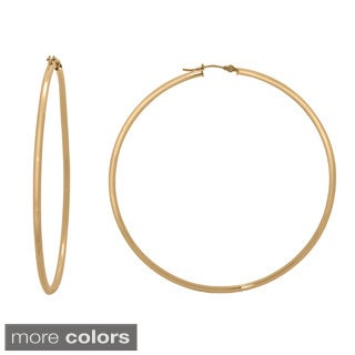 Gioelli 14k Gold High Polish 65mm Round Hoop Earrings