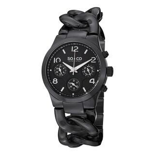 SO&CO New York Women's SoHo Quartz Stainless Steel Chain Bracelet Watch