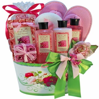 So Serene Peony Spa Bath and Body Gift Basket Set