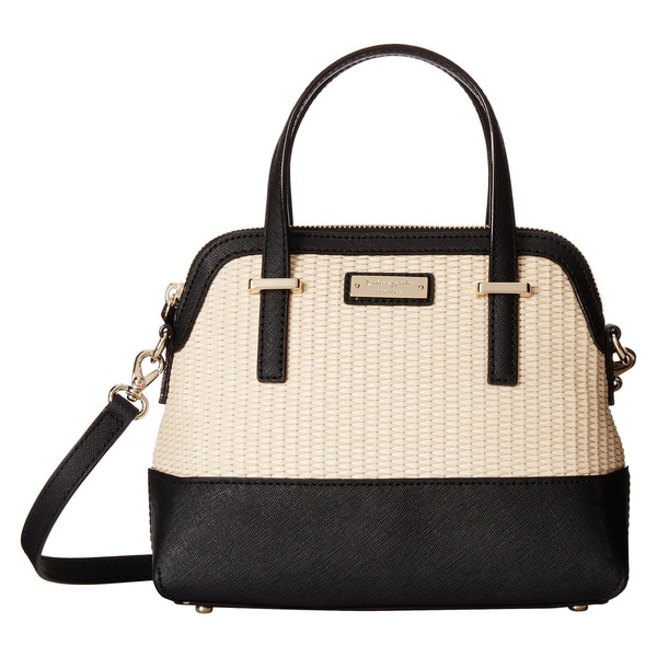 Kate Spade Cedar Street Straw Maise Natural/ Black Satchel