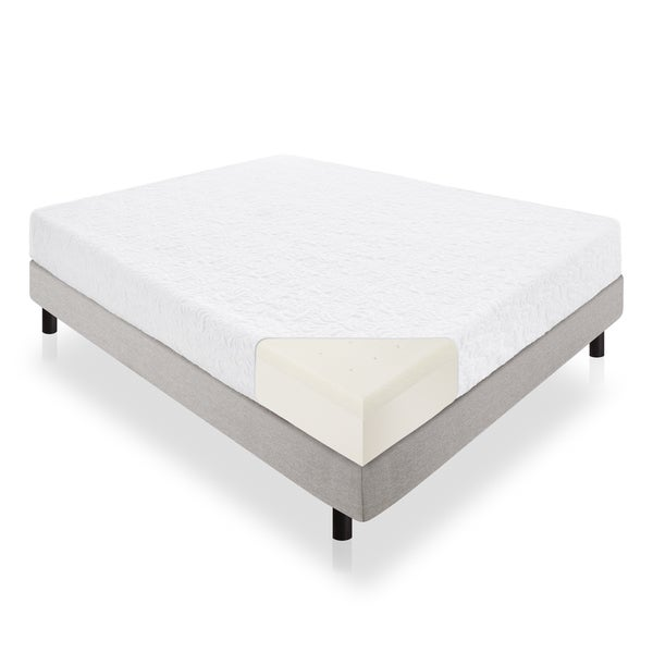 Lucid 10-inch Queen-size Latex Foam Mattress