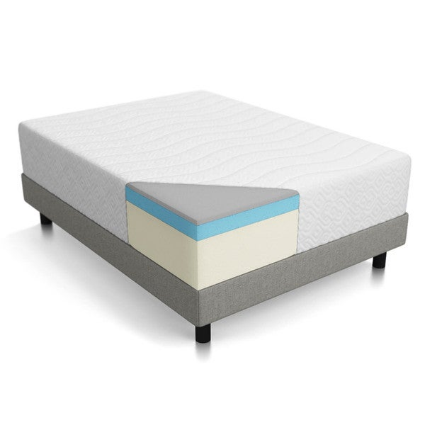 Lucid Bamboo Charcoal Infused 14-inch Queen-size Memory Foam Mattress
