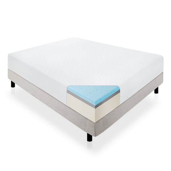 Lucid 14-inch California King-size Memory Foam Mattress