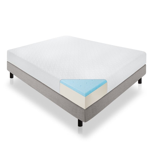Lucid 10-inch California King-size Memory Foam Mattress