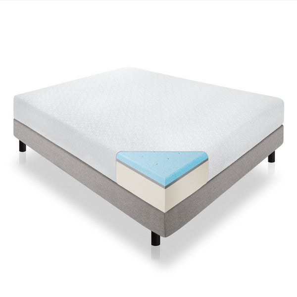Lucid 12-inch King-size Gel Memory Foam Mattress