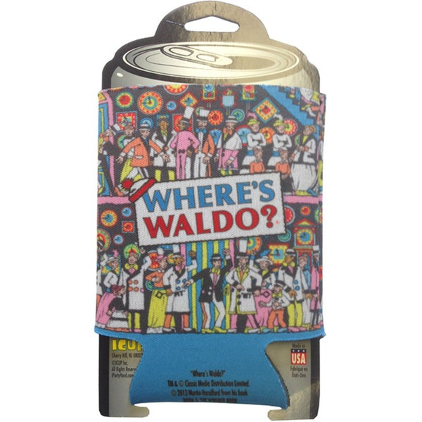 Where's Waldo Can Cooler Koozie