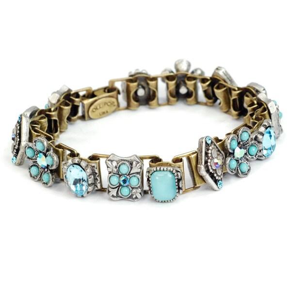 Sweet Romance Vintage Coral and Aqua Southwest Bracelet 15640606