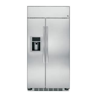 GE Profile Series 48-inch Built-in Stainless Steel Side-by-side Refrigerator