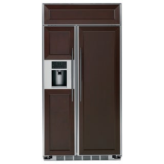 GE Profile Series 48-inch Custom Panel Side-by-side Refrigerator