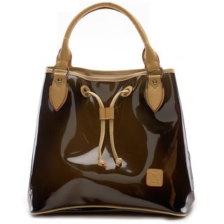 D by Dominie Large Leatherette Black Tote