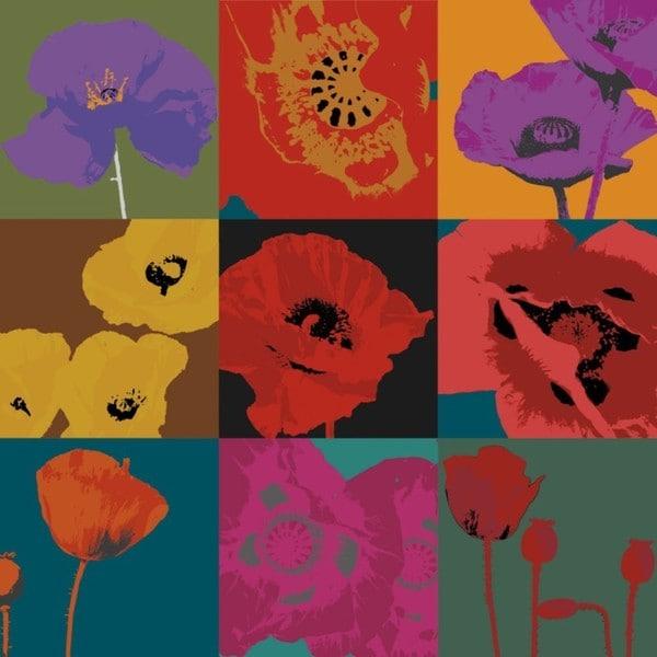 Pop Poppies by Don Li-Leger 36 x 36 Gallery Wrap Canvas