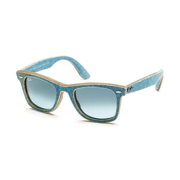 Ray-Ban Unisex RB2140 Blue Denim Gradient Lens Wayfarer Sunglasses