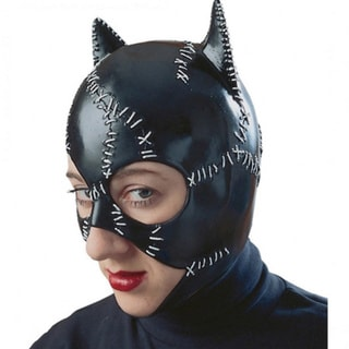 Catwoman Mask Womens Eye Black Adult Movie Costume Licensed Batman Dark Knight