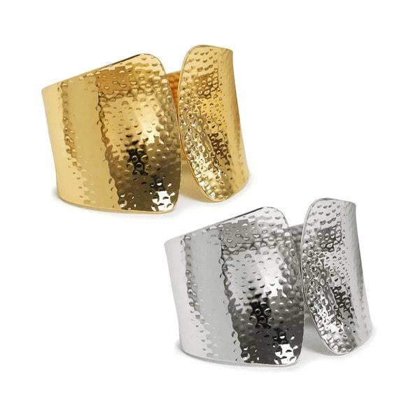 Eternally Haute Gold Overlay Venus Textured Cuff Bracelet