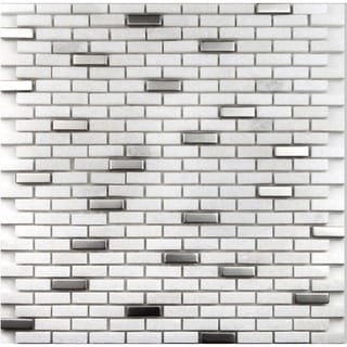 Martini Mosaic Muro Frozen Stone 12 x 12-inch (Set of 6)