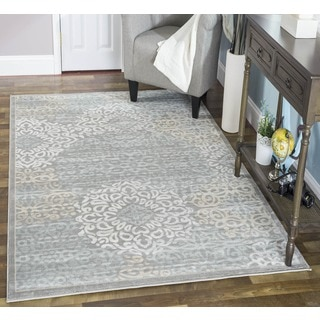 Admire Home Living Plaza Mia Grey Area Rug (3'3 x 4'11)