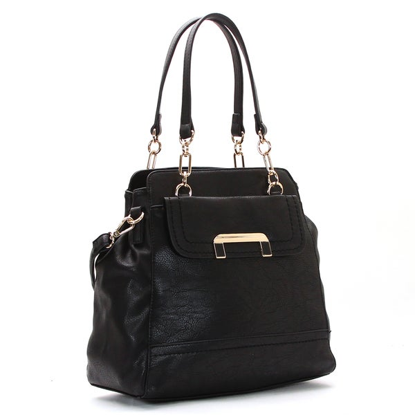 Robert Matthew Faux Leather Harper Black Tote