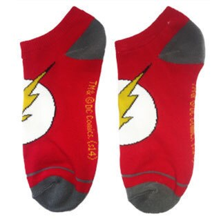 The Flash Logo Red Ankle Socks