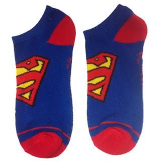 Superman Logo Blue Ankle Socks
