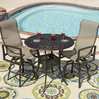 Lakeview Outdoor Designs Acadia 2-Person Sling Patio Bar Set