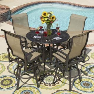 Lakeview Outdoor Designs Acadia 4-Person Sling Patio Bar Set