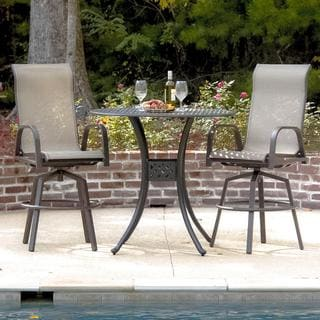 Lakeview Outdoor Designs Madison Bay 2-Person Sling Patio Bar Set