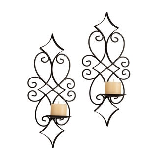 Danya B Casablanca Iron Candle Sconce Set