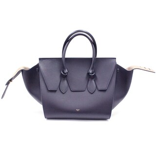 Celine Small 'Tie' Navy Smooth Calfskin Leather Tote