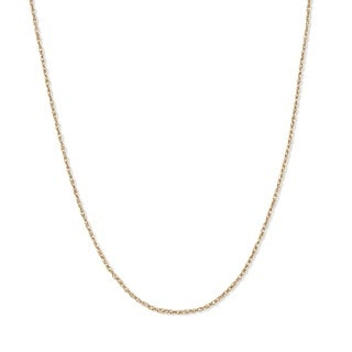"""PalmBeach Rope Chain in 14k Gold 18"""" Tailored"""