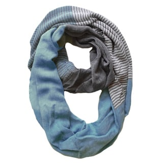 Peach Couture Seafoam Sassy in Stripes Lightweight Infinity Scarf
