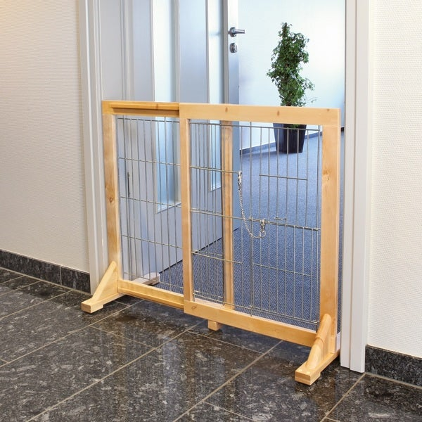 Free Standing Dog Barrier with Walk-thru Pet Door