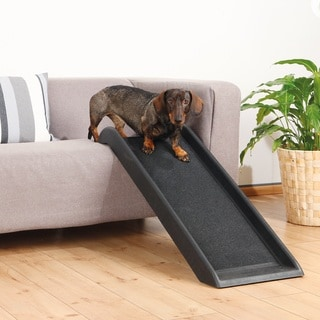 TRIXIE 39-inch Pet Safety Ramp - Black