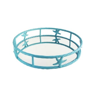 Accents by Jay Seaside Light Blue Shell Tray