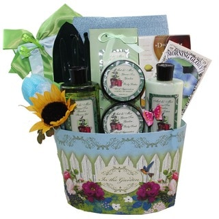 Gardener's Delight Green Tea Spa Bath and Body Gift Basket Set