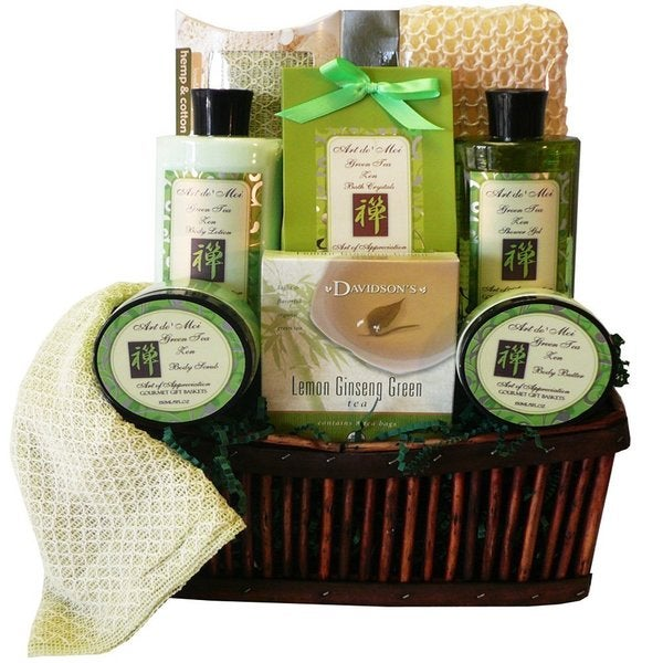 Green Tea Zen Spa Bath and Body Gift Basket Set