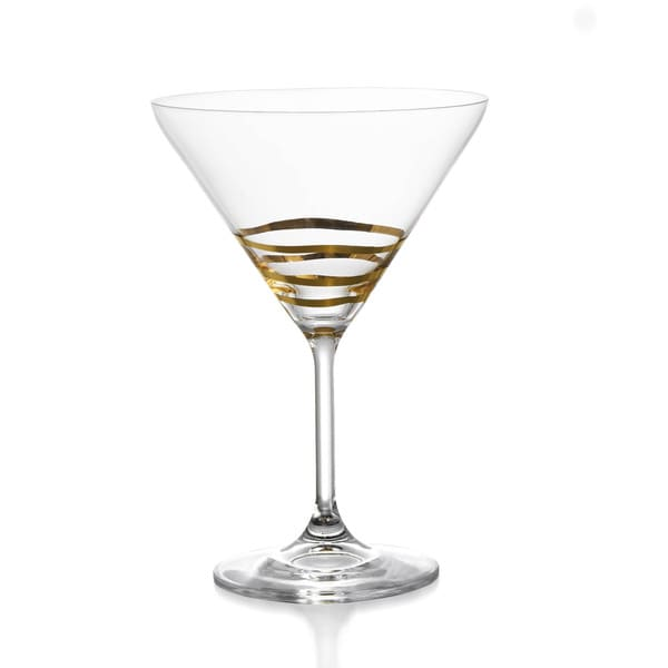 Accents by Jay Fitz & Floyd Cocktails Wave Martini Glasses (Set of 4)