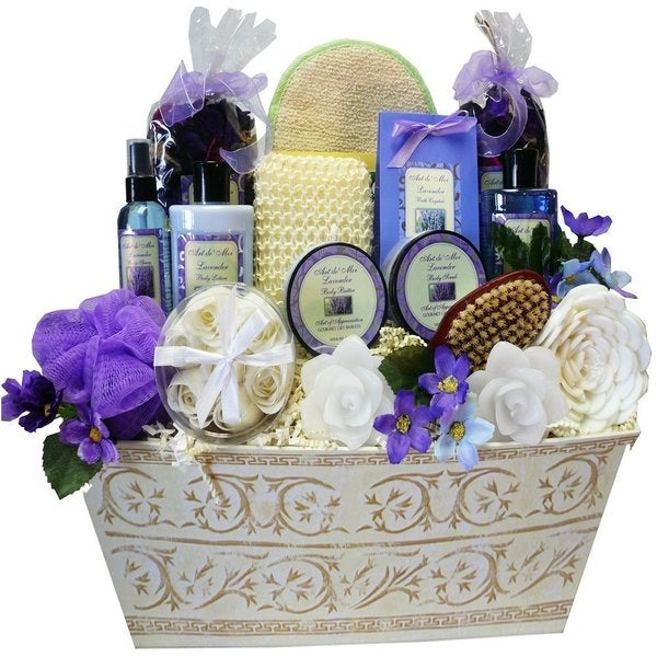Lavender Renewal Spa Bath and Body Large Gift Basket Set