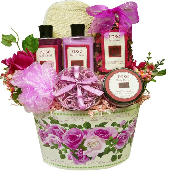 Mum's English Rose Garden Spa Bath and Body Gift Basket Set