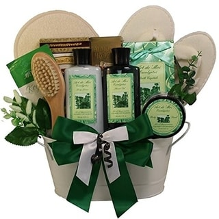 Peace and Relaxation Eucalyptus Aromatherapy Spa Bath and Body Gift Basket Set