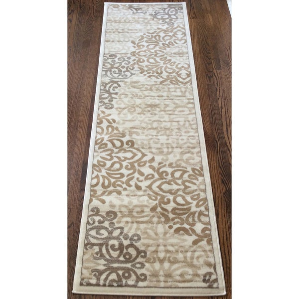 Plaza Mia Bone Runner Rug (2'2 x 7'7)
