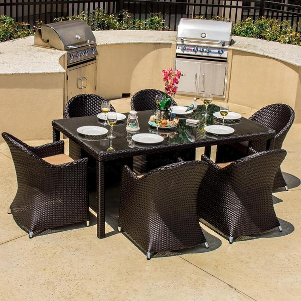 Providence 6 Person Resin Wicker Patio Dining Set