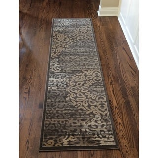 Plaza Mia Brown Runner Rug (2'2 x 7'7)