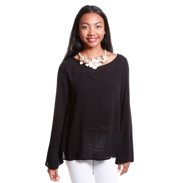 Hadari Women's Open Back Blouse